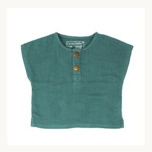 L'ovedbaby Organic Cotton Muslin Tee in Oasis